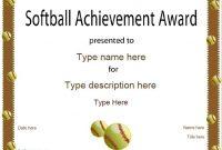 Free softball Certificate Templates 6