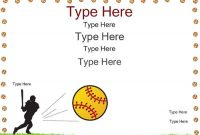 Free softball Certificate Templates 7