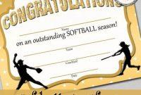 Free softball Certificate Templates 9