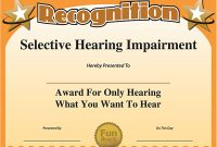Funny Certificate Templates 2