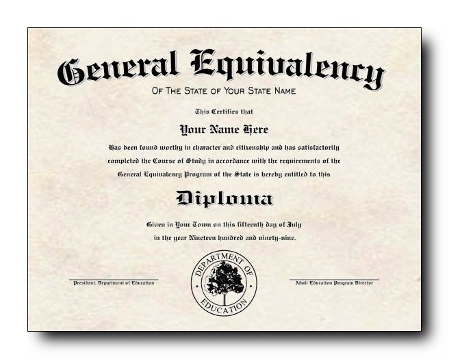 Ged Certificate Template Download 4