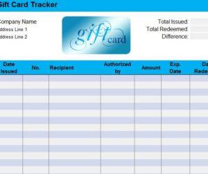 Gift Certificate Log Template 7