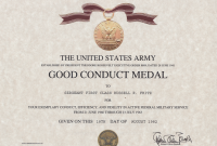 Good Conduct Certificate Template 0