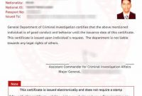 Good Conduct Certificate Template 11
