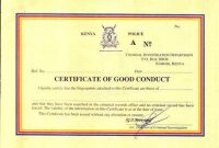 Good Conduct Certificate Template 2
