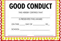 Good Conduct Certificate Template 4