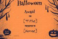 Halloween Certificate Template 0