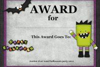 Halloween Certificate Template 2