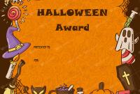 Halloween Certificate Template 3