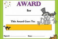Halloween Certificate Template 4