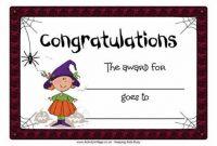 Halloween Certificate Template 8