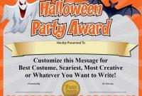 Halloween Certificate Template 9