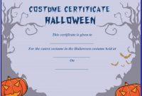 Halloween Costume Certificate Template 10