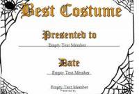 Halloween Costume Certificate Template 3