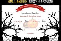 Halloween Costume Certificate Template 4