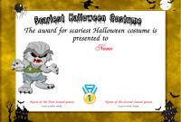 Halloween Costume Certificate Template 6