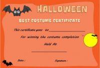 Halloween Costume Certificate Template 7