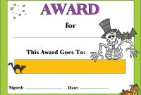 Halloween Costume Certificate Template 8
