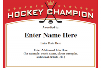 Hockey Certificate Templates 2