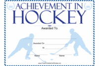 Hockey Certificate Templates 3