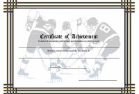 Hockey Certificate Templates 4