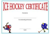 Hockey Certificate Templates 5