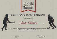 Hockey Certificate Templates 6