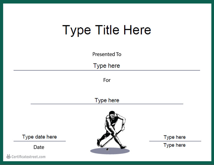 Hockey Certificate Templates 7