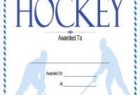 Hockey Certificate Templates 8