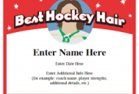 Hockey Certificate Templates 9