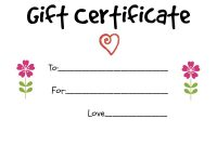 Homemade Gift Certificate Template 2