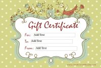 Homemade Gift Certificate Template 3