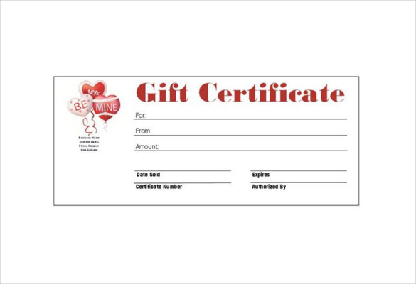 Homemade Gift Certificate Template 4