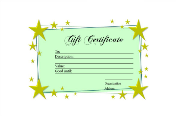 Homemade Gift Certificate Template 5