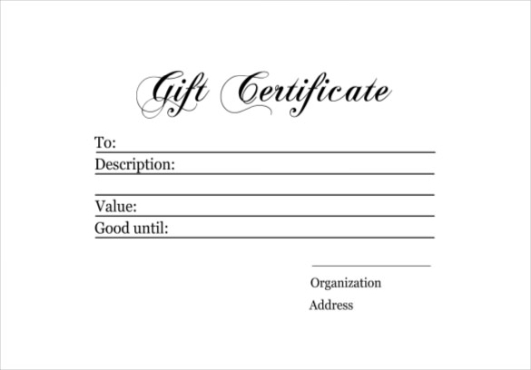 Homemade Gift Certificate Template 6