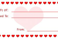 Homemade Gift Certificate Template 8