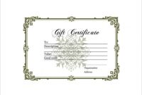 Homemade Gift Certificate Template 9