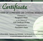 Tennis Gift Certificate Template