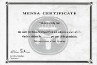 Iq Certificate Template 2