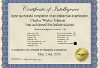 Iq Certificate Template 4