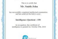 Iq Certificate Template 7