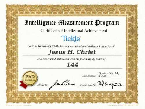 Iq Certificate Template