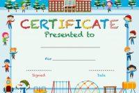 Kids Award Certificate Template 0