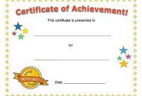 Kids Award Certificate Template 1