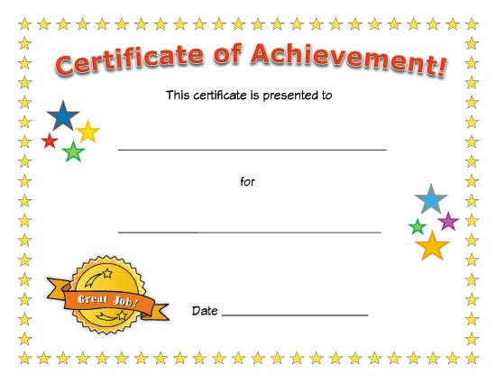 Kids Award Certificate Template 1