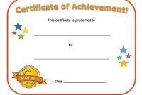 Kids Award Certificate Template 2
