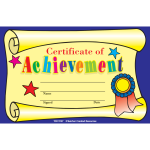 Certificate Of Achievement Template for Kids
