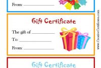 Kids Gift Certificate Template 2