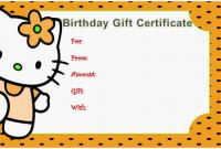 Kids Gift Certificate Template 4