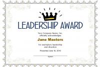 Leadership Award Certificate Template0